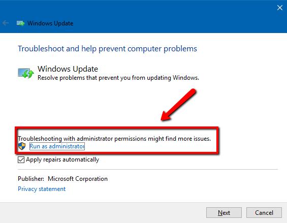 latest windows update problem